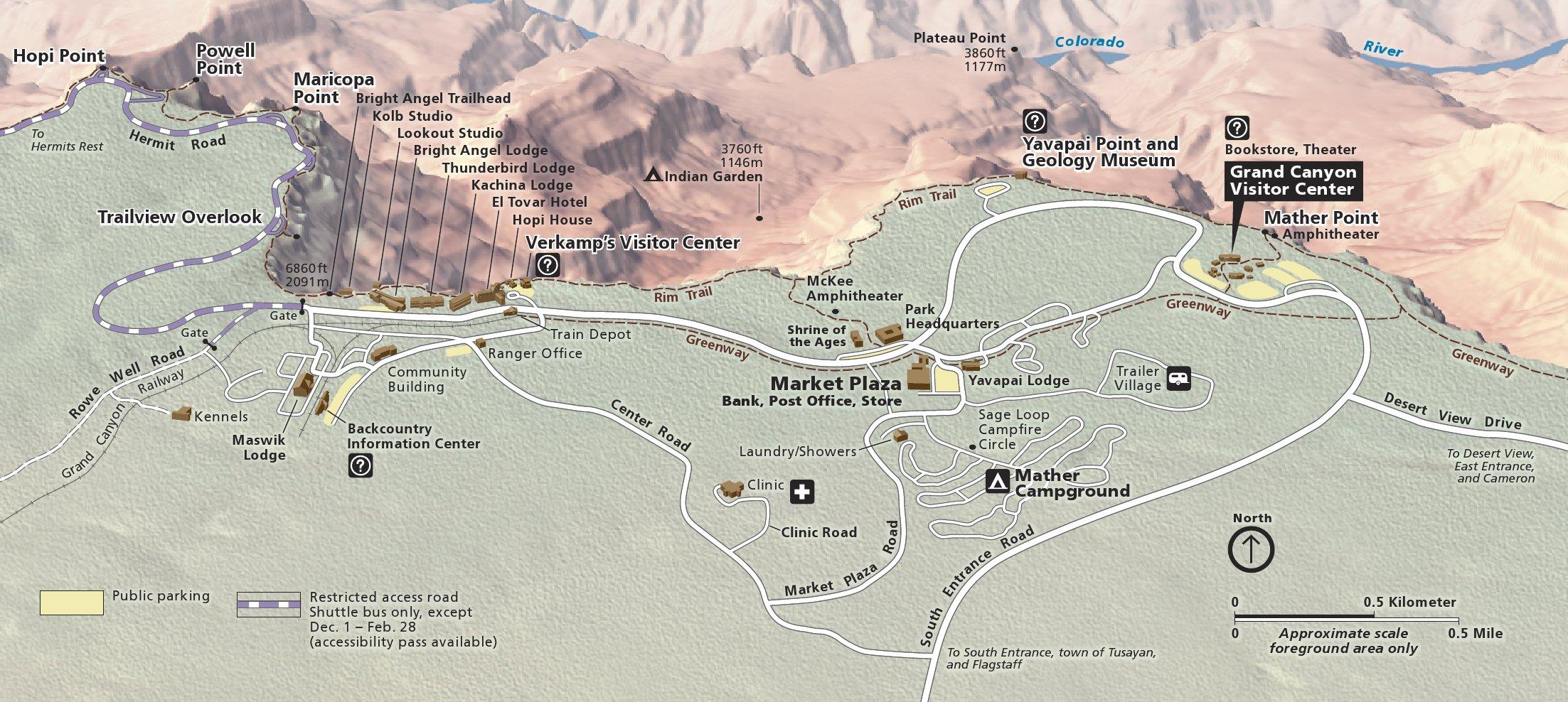 grand-canyon-south-rim-detail-map